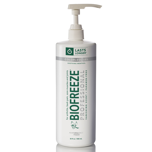 BSSN NEW and IMPROVED Biofreeze Cold Therapy Pain Relief - 32oz Colorless Gel Pump 1 at Sears.com